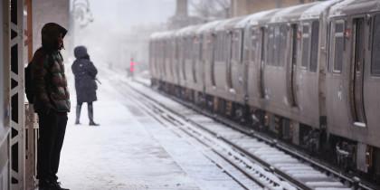 snowy platform