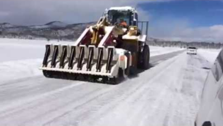 New Technology Demonstration and Evaluation for Maintenance on Snow Packed Highways